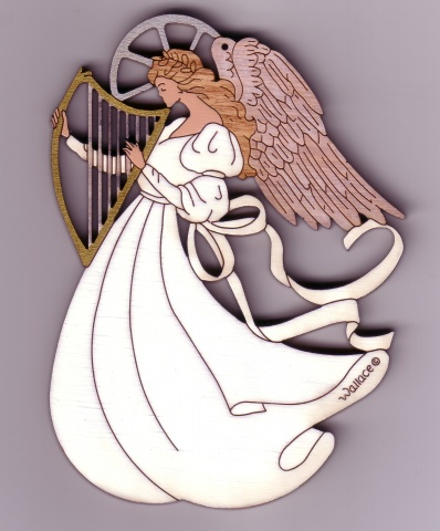 Angel with Harp #089
