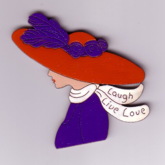 Red Hat Lady Pin #193