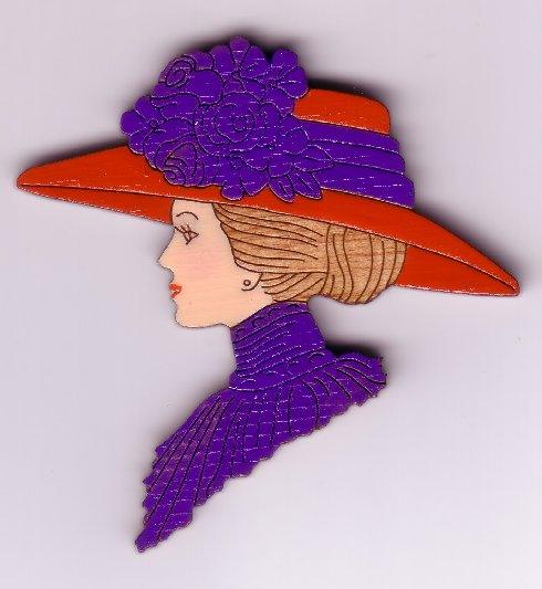 Victorian Lady 1 Pin #194