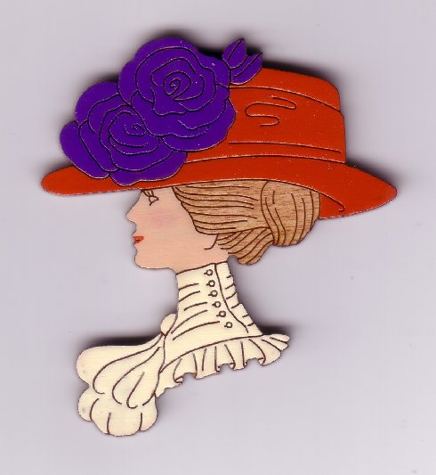 Victorian Lady 2 Pin #195