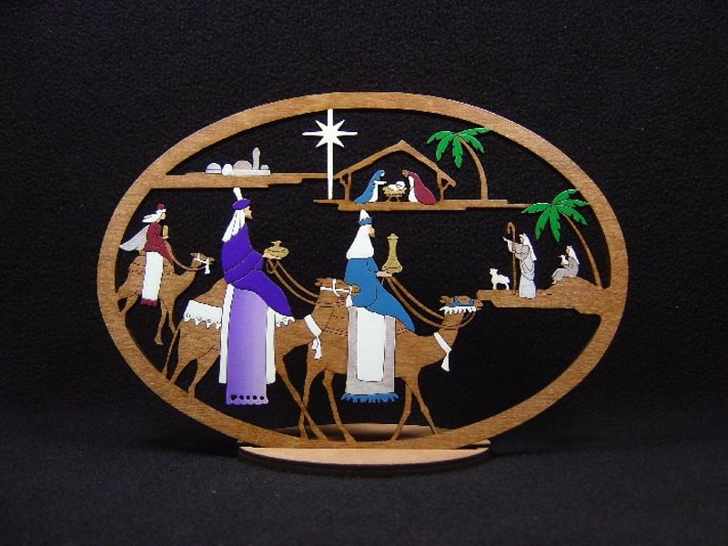 Large 3 King Nativity #197