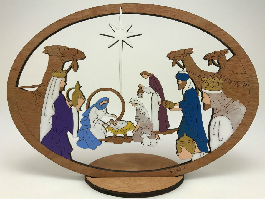Large Camel Nativity