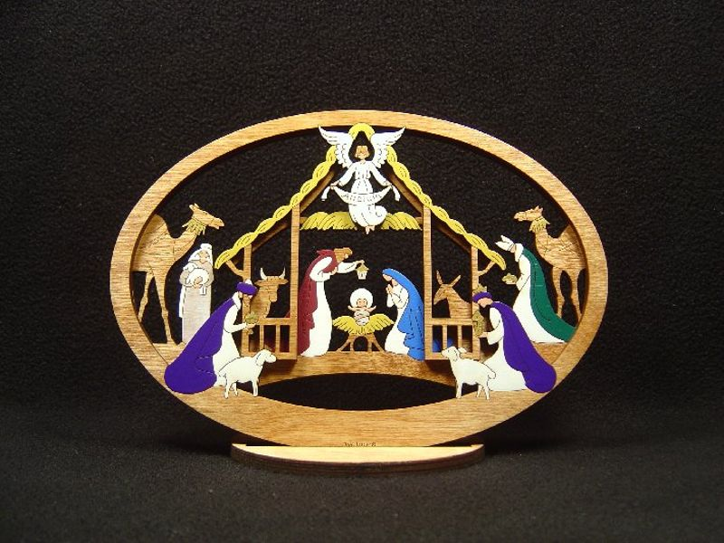 Medium Layered Alleluia Nativity #210
