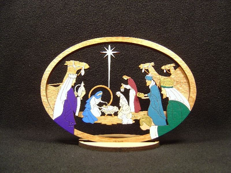 Medium Layered Star Nativity #213