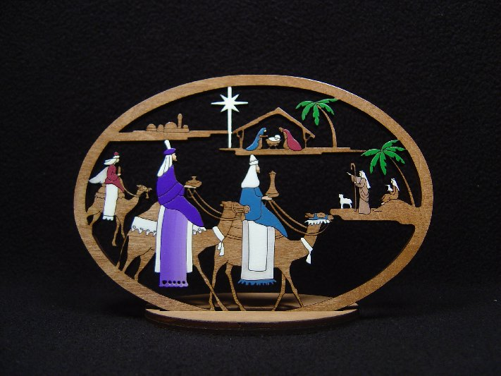 Small 3 King Nativity #214