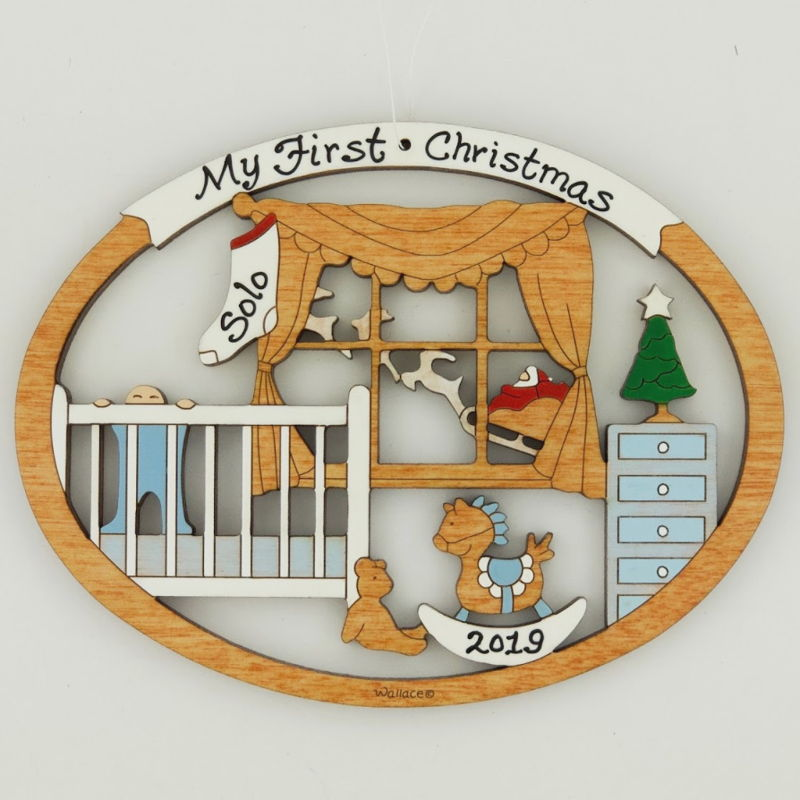Baby's First Christmas Ornament - Blue