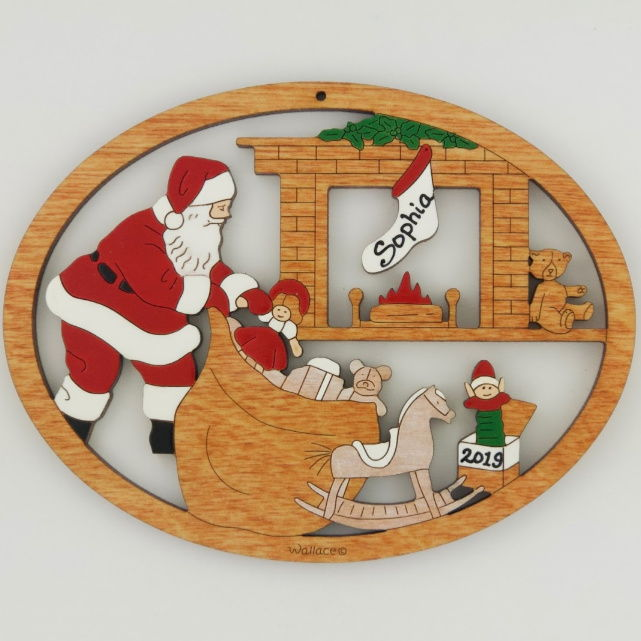 Santa with Toys Ornament