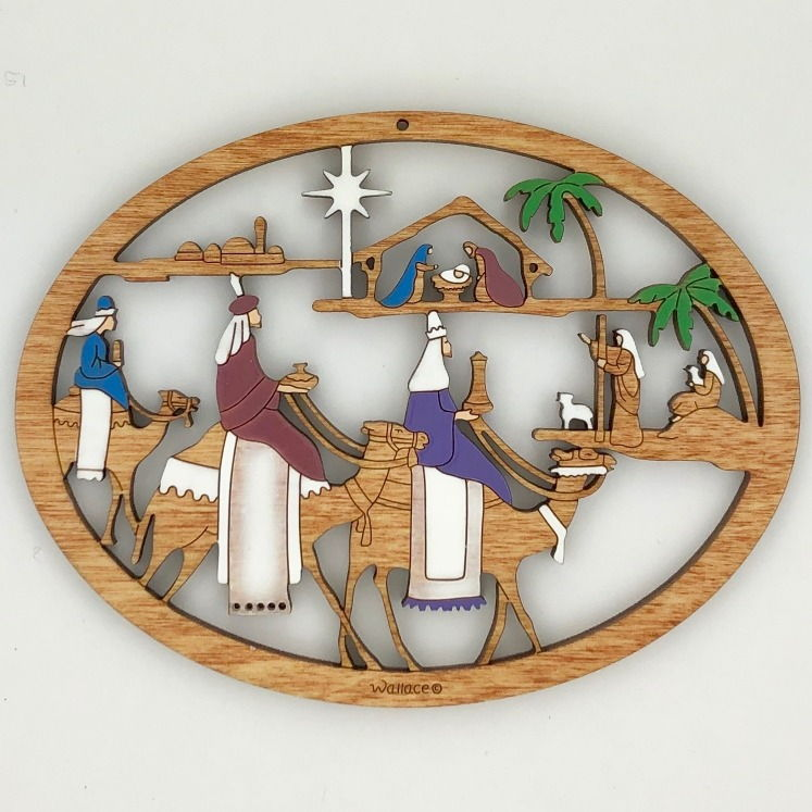 Three King Nativity Ornament