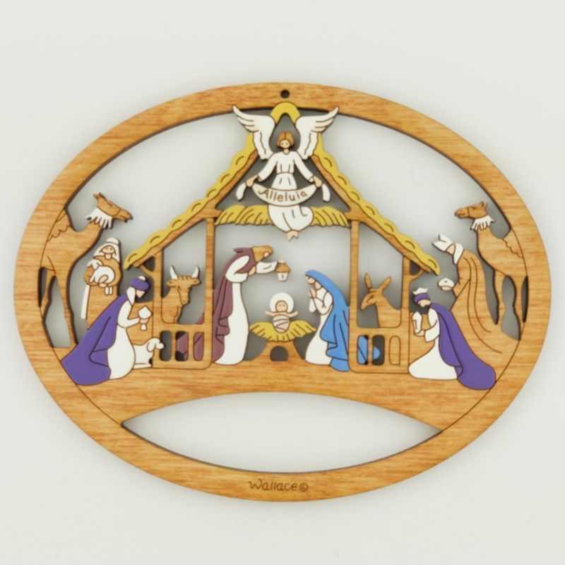 Alleluia Nativity Scene Ornament