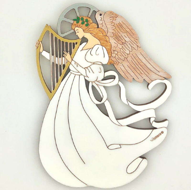 Angel with Harp Ornament