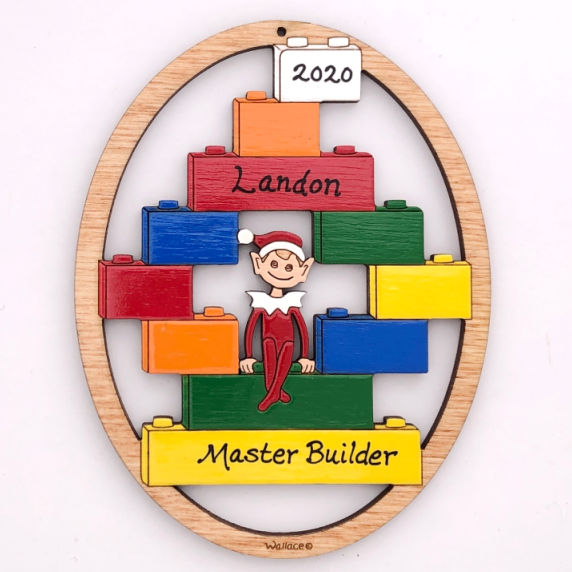 Brick Builder Ornament