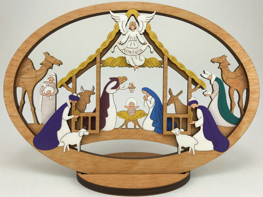 Medium Layered Alleluia Nativity