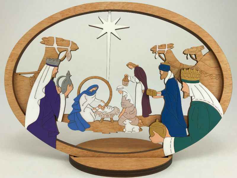 Medium Layered Star Nativity
