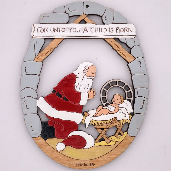 Santa With Baby Jesus Ornament