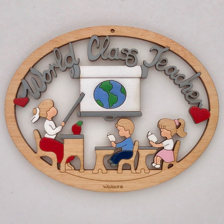 World Class Teacher Ornament