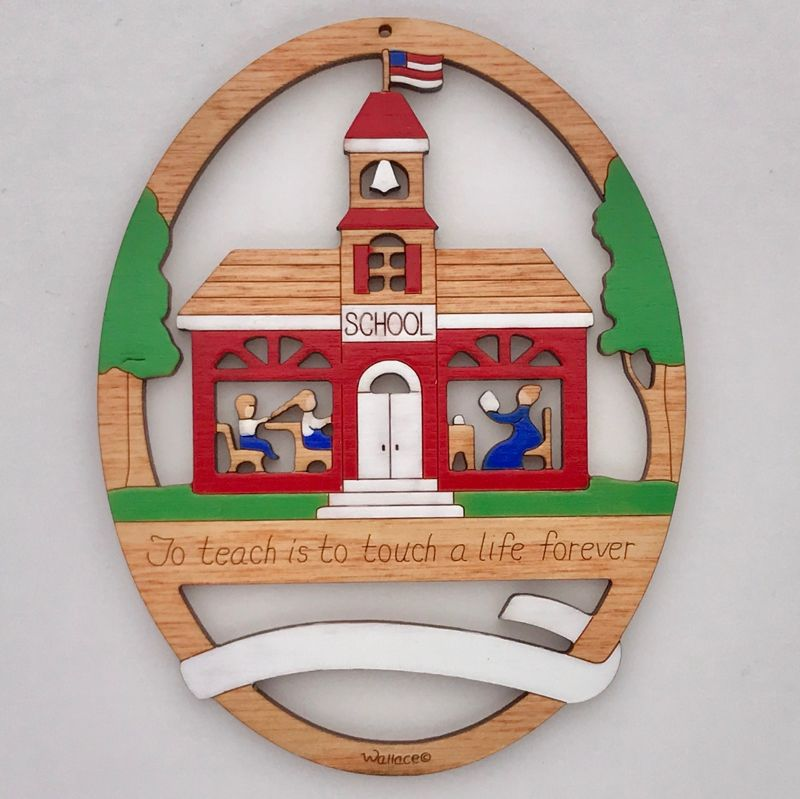 School House Ornament